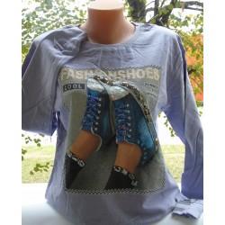 Дамска блуза в светло лилаво