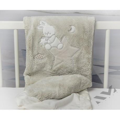 Бебешко Памучно Одеяло Розово Еленче