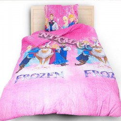 Детски спален комплект Леденото кралство в розово