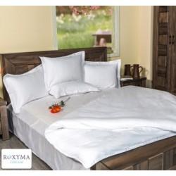 Спален комплект памучен сатен едноцветен Бял