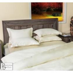 Спален комплект памучен сатен едноцветен Екрю